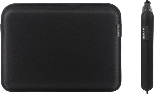 Runetz - 15-inch BLACK Sleeve Magnetic Hard Cover for