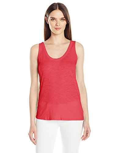 Velvet by Graham & Spencer Women's Joy Scoopneck Tank, Amaryllis M