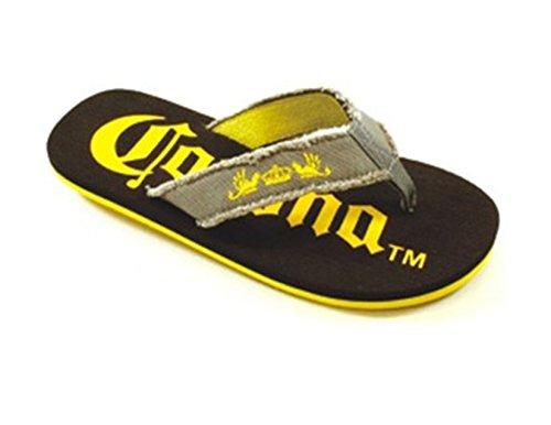 Mens Corona Big Sizes Sandals Flip Flops Men's Extra Sizes Beach Sandals (15, Black) Corona Flip Flops