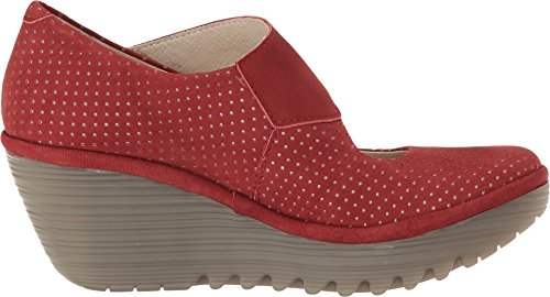 Fly London Womens Yeon701fly Pompa A Cuneo Cordoba Cupido Rosso