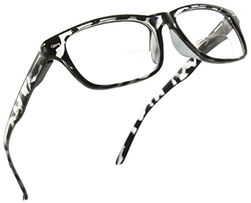 Trendy Bifocal Reading Glasses Readers with Spring Hinges for Men and Women [Leopard, 1.00]