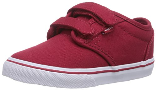 Vans Atwood V, Unisex Babies' Crawling Baby Sneakers, Red ((Canvas) Red/White), 6.5 Child UK (23.5 EU)]()