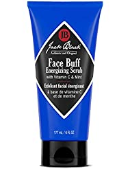 JACK BLACK – Face Buff Energizing Scrub – Deep-Cleaning Pre-shave Cleanser and Scrub, Reduces Ingrown Hairs, Exfoliates Skin, Removes Oil, Dirt, and Dead Skin Cells,6 oz.