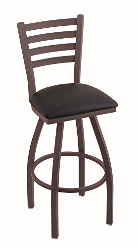 Holland Bar Stool Company 410 Jackie 30-Inch Bar Stool with Bronze Finish, Black Vinyl Seat and 360 Swivel