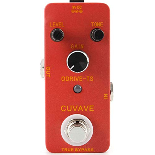 CUVAVE ODRIVE-TS Overdrive Guitar Effect Pedal True Bypass Musical Accessories Christmas for Music Guitar Lover ()