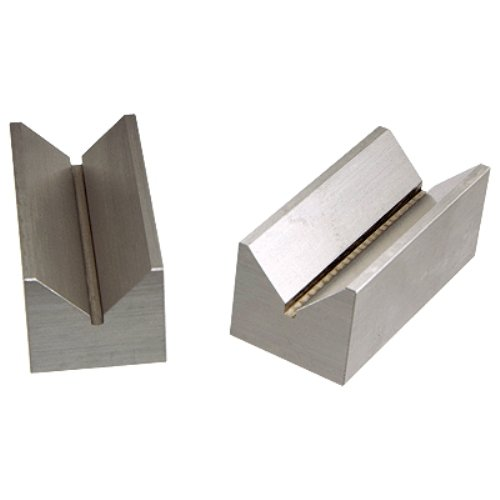HHIP 3 X 1.4 X 1.2 INCH Steel V-Block Set Capacity 1.25 (3402-1017)
