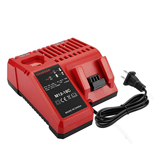 Energup Battery Charger 48-59-1812 for 12V-18V Milwaukee M12 M14 M18 Lithium Battery 48-11-2420 48-11-2440 48-11-1820 48-11-1840 48-11-1850 48-11-2401 48-11-1890