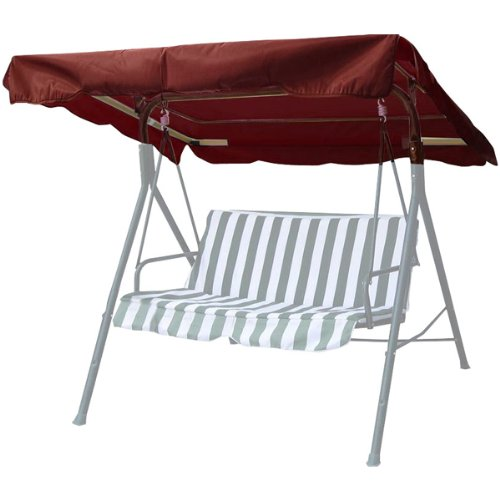New Deluxe Outdoor Swing Canopy Replacement Porch Top Cover Seat Patio Brown (77'x43')