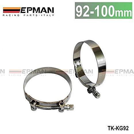 3,5 pulgadas (92 mm-100 mm) silicona manguera Turbo Acoplador T perno abrazadera de Super tk-kg92: Amazon.es: Coche y moto