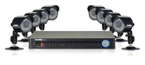 Lorex Vantage 16-Channel 500 GB Network DVR Security System with Mobile Viewing and 8 Indoor/Outdoor Night Vision Security Cameras (LH126501C8B)