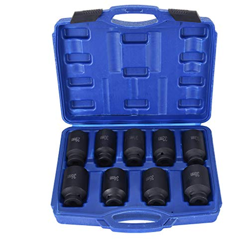 Giokfine 9pcs Deep Impact Socket Set 1/2