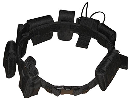 Black Law enforcement modular equipment system security military tactical duty utility belt