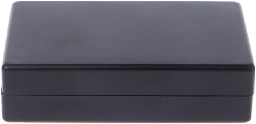 Kcnsieou 125x80x32mm impermeabile nero scatola impermeabile Progetto elettronico strumento caso connettore