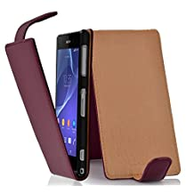 Cadorabo – Flip Style Case for Sony Xperia Z2 – Shell Etui Cover Protection Skin in PASTEL-PURPLE