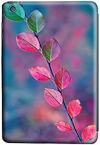 iPad mini Case Cover,Green-Leaves-Turn-Red-In-Autumn 3D Hard Shell Case for iPad Mini