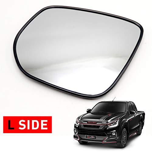 Nonstops Lh Side View Door Mirror Glass for Isuzu D-Max Hi-Lander V-Cross 2012 2019 Matte Black