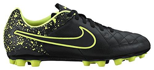 Nike Mädchen Jr Tiempo Genio Leather AG Turnschuhe Schwarz / Grün (Schwarz / Schwarz-Volt)