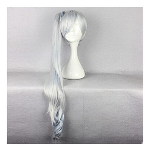 Kadiya Cosplay Wig White Blue Mixed Long Curly Fashion -
