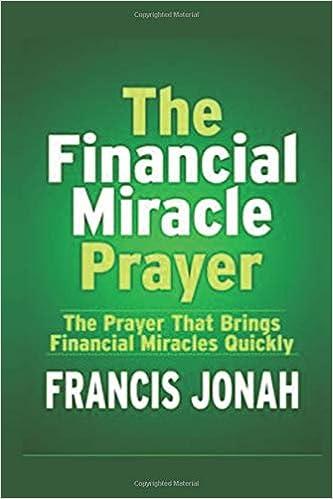 THE FINANCIAL MIRACLE PRAYER: Francis Jonah: 9781791538019: Amazon