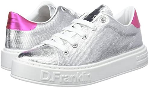 D. Franklin Gumme Metal, Zapatillas para Mujer, Plateado (Silver ...