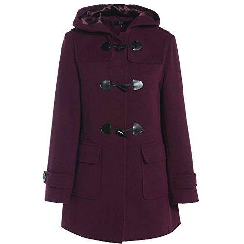 Deporte de invierno para mujer traje de neopreno para mujer abrigo de lana chaqueta de hípica para niños Plus tamaños de palanca con capucha Wine