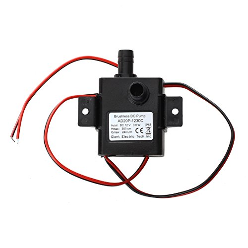 SODIAL(R) Ultra-quiet Mini DC12V Micro Brushless Water Oil Pump Submersible 240L/H 5W Lift 3M