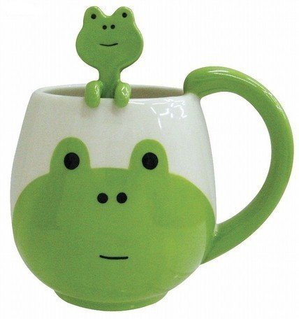 Decole Frog Mug and Spoon, 12 oz.
