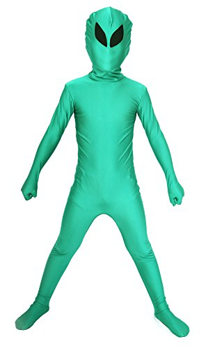 Aliens Halloween Costumes (Sheface Kids Alien Full Body Spandex Halloween Costumes (Small, P05))