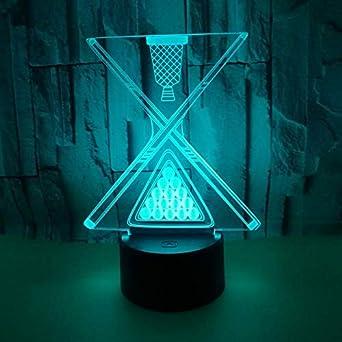3D LED Illusions Luz Nocturna Nueva bola de billar luces 3D ...