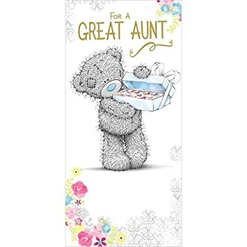 Me To You For A Great Aunt Happy Birthday Card From Niece Nephew