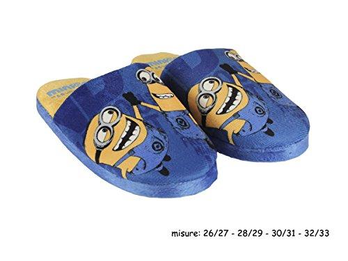 Minions - Zapatillas de estar por casa de Material Sintético para niño azul turquesa