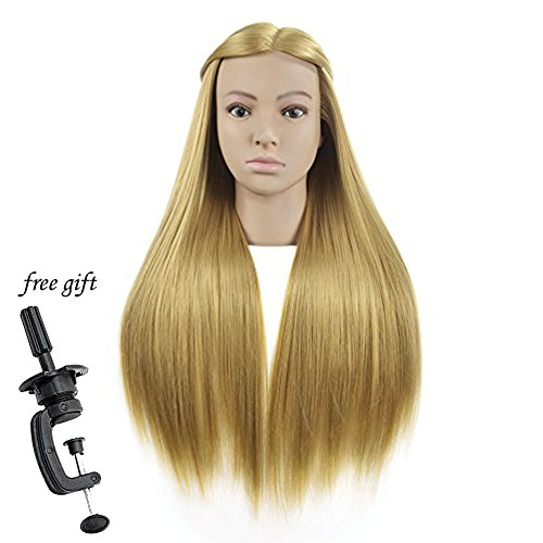 Bolihair Training Head For Hairdresser Mannequin Head With Blonde Synthetic Hair Makeup Training Heads Practice Braiding Maniken Fine Craftsmanship Home