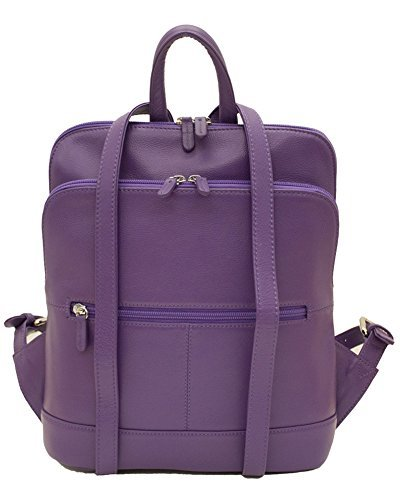 ili New York 6505 Leather Backpack (Purple)