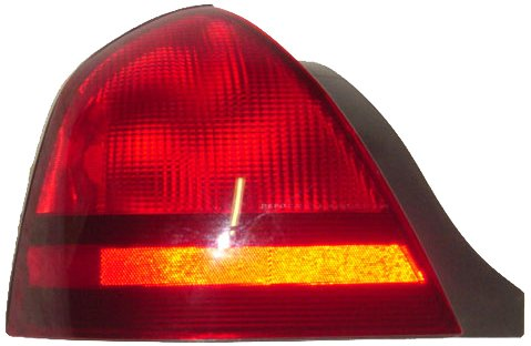 OE Replacement Mercury Grand Marquis Driver Side Taillight Assembly (Partslink Number FO2800173)