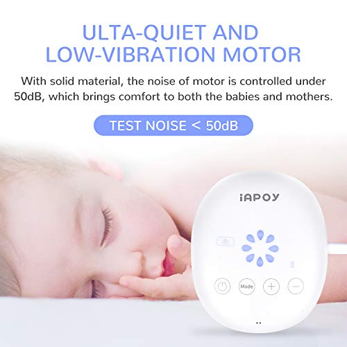 Electric Breast Pump - Breastfeeding Pump with Automatic Mode & Breast Massage HD LED Display Touch Screen - Electric Single Breast Pump BPA Free by iAPOY (Image #4)