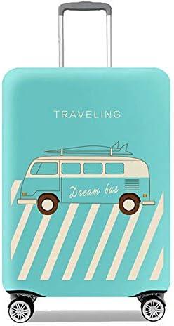 旅行スーツケースカバープロテクター伸縮性のある洗濯可能な荷物保護トロリーケースカバープロテクター22-24インチに適合 Blue M