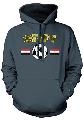Amdesco Men's Egypt Soccer, Egyptian Football Hooded Sweatsh