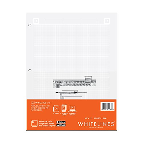 Roaring Spring Whitelines Engineering Computation Pad, 8.5x11, 80 sheets