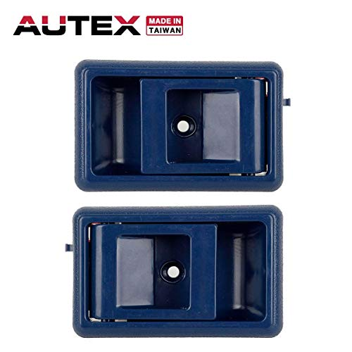 AUTEX Door Handle 2pcs Blue Interior Front/Rear Left Right Side Compatible with Toyota Corolla 88-92,Toyota 4Runner Pickup 89-95 Replacement for Toyota Tacoma 95-00 77120 77121