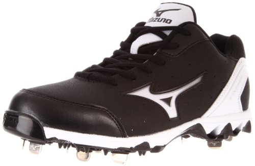 Mizuno Men's Mizuno 9-Spike Vint 7 Switch Baseball Shoe,Black/White,14 M US