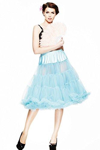 Claro de conejo - mujer enaguas Rock de 63,5 cm de largo de tul Vintage 50 Swing Azul