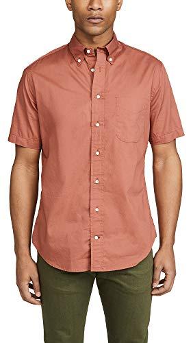 Gitman Vintage Men's Button Down Oxford Shirt, Rust, Orange, Small