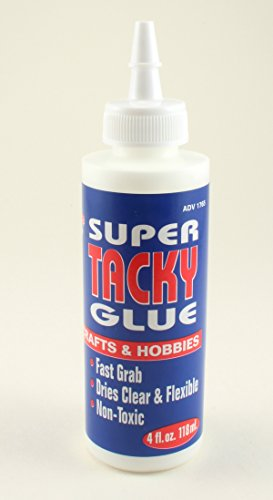 Nicole Super Tacky Glue-4oz Non-toxic Fast Grab Dries Clear Fast