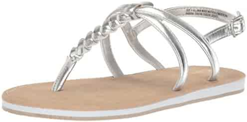 The Children's Place Kids' E BG Braided SS Flat Sandal