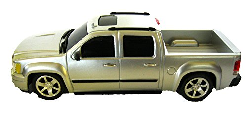 Officially licensed GMC Sierra Denali 1:24 scale.Full Function Radio control.GK Racer Series Truck.Silver. Silver Racer Series
