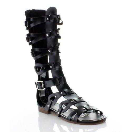 Anna Womens Glad-1 Sandales Gladiateur Noir