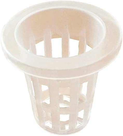 Agarden 1.8 Mesh Net Cup Pots Basket Hydroponics System Supplies Aquaponics Seed Growing Media White Pack of 50
