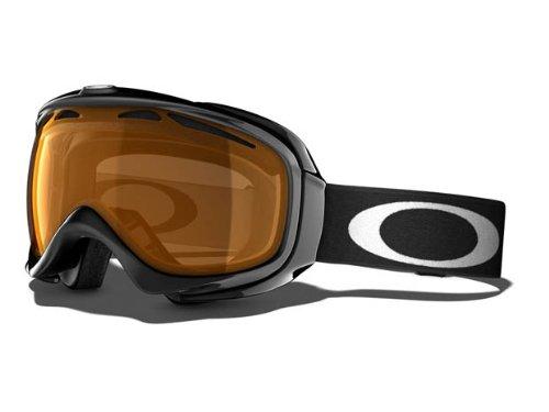 Oakley Unisex-Adult Elevate Snow Goggles(Jet Black,Persimmon), Outdoor Stuffs