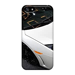 New Premium NNu554XELG Case Cover For Iphone 5/5s/ Lamborghini Beautiful Car Wide Protective Case Cover
