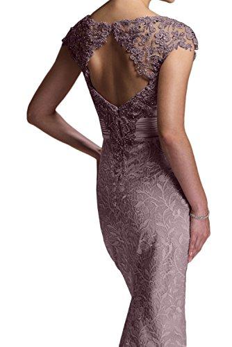 mit Navy Ivydressing Meerjungfrau Kurzarm Elegant Partykleider Brautmutterkleider Lang Damen Neu 2017 Spitze Paillette F7Fvwr